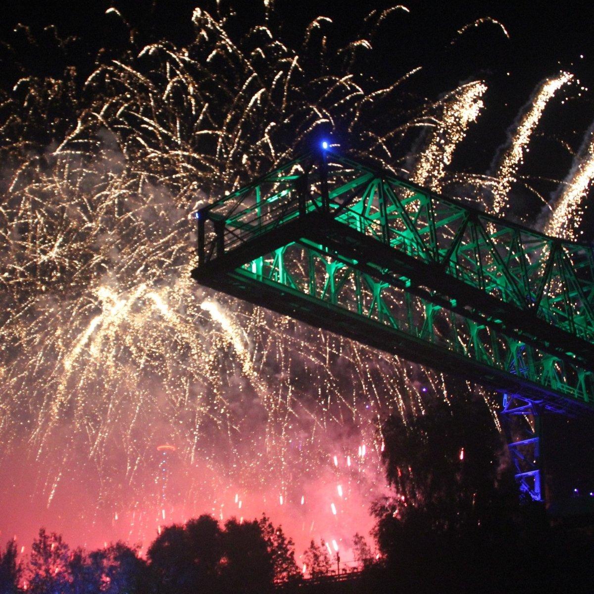 Extraschicht Feuerwerk Landschaftspark Duisburg